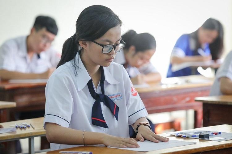 Thí sinh dự thi THPT quốc gia năm 2019 tại TP HCM. Ảnh: Thành Nguyễn
