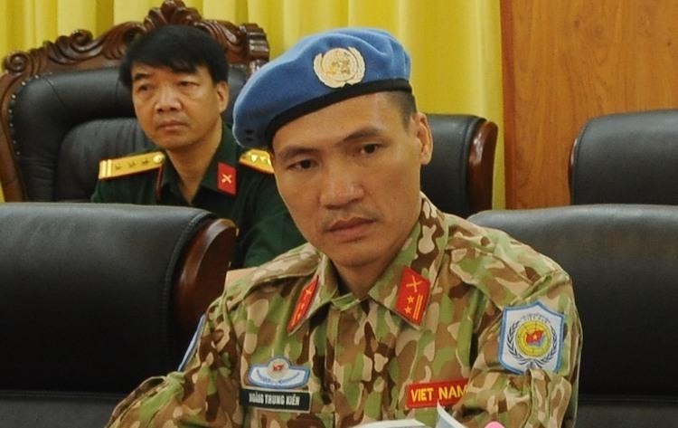 Trung tá Hoàng Trung Kiên. Ảnh: Viết Tuân