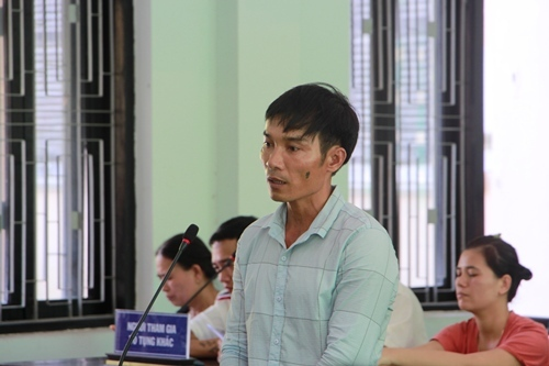 Bị cáo Chung tại phiên tòa. Ảnh: Võ Thạnh
