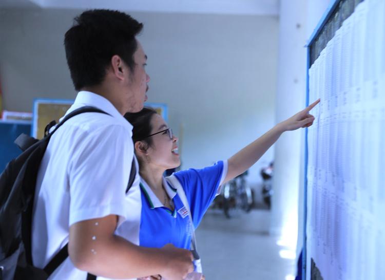 Thí sinh dự thi THPT quốc gia năm 2019 ở Đà Nẵng. Ảnh: Văn Đông