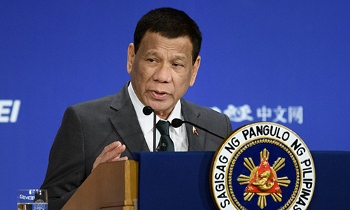 Tổng thống Philippines Rodrigo Duterte. Ảnh: Bloomberg.