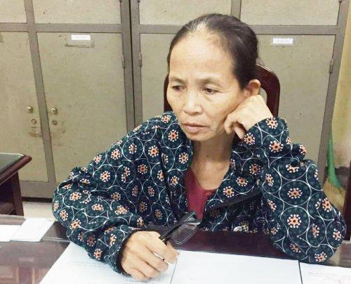 Bà trùm Trần Thị Liên đang bị công an tỉnh Nam Định tạm giữ hình sự để điều tra về hành vi mua bán, vận chuyển trái phép chất ma túy từ Lào về Việt Nam. Ảnh: CANĐ
