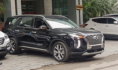 Hyundai Palisade tại trụ sở của Thành Công ở Hà Nội. Xe được nhập về để nghiên cứuthị trường chứ chưa có kế hoạch phân phối. Ảnh: Tới Nguyễn