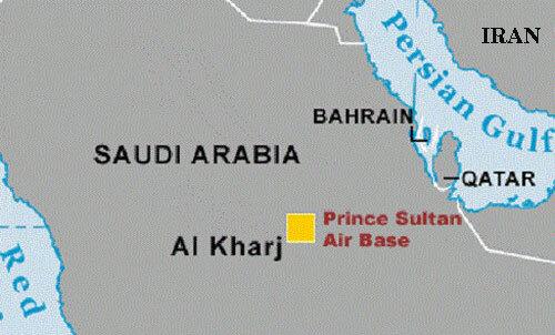 Vị trí căn cứ không quân Hoàng tử Sultan của Arab Saudi. Đồ họa: CNN.