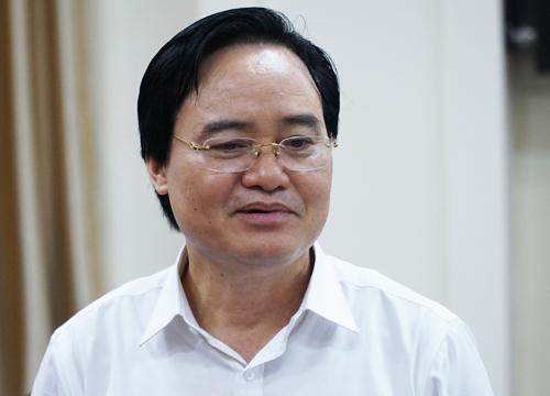 Bộ trưởng Phùng Xuân Nhạ phát biểu tại hội nghị giao ban công tác khoa giáo sáng 18/7. Ảnh: Hoàng Thùy