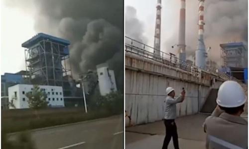 Xưởng ga Trung Quốc phát nổ, 12 người mất tích - ảnh 1