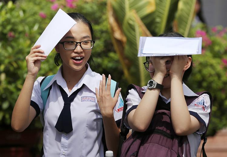 Thí sinh dự thi THPT quốc gia năm 2019. Ảnh: Quỳnh Trần