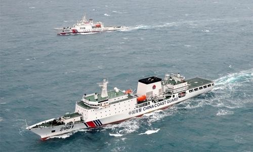 Tàu hải cảnh Trung Quốc ở Biển Đông. Ảnh: Xinhua.