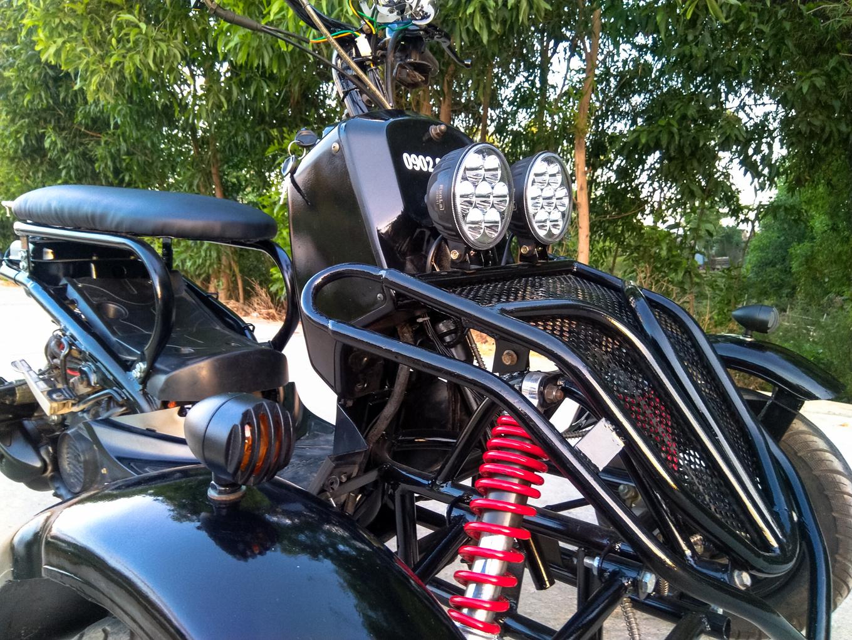 Xe ba bánh cảm hứng Honda Zoomer của thợ Bình Định