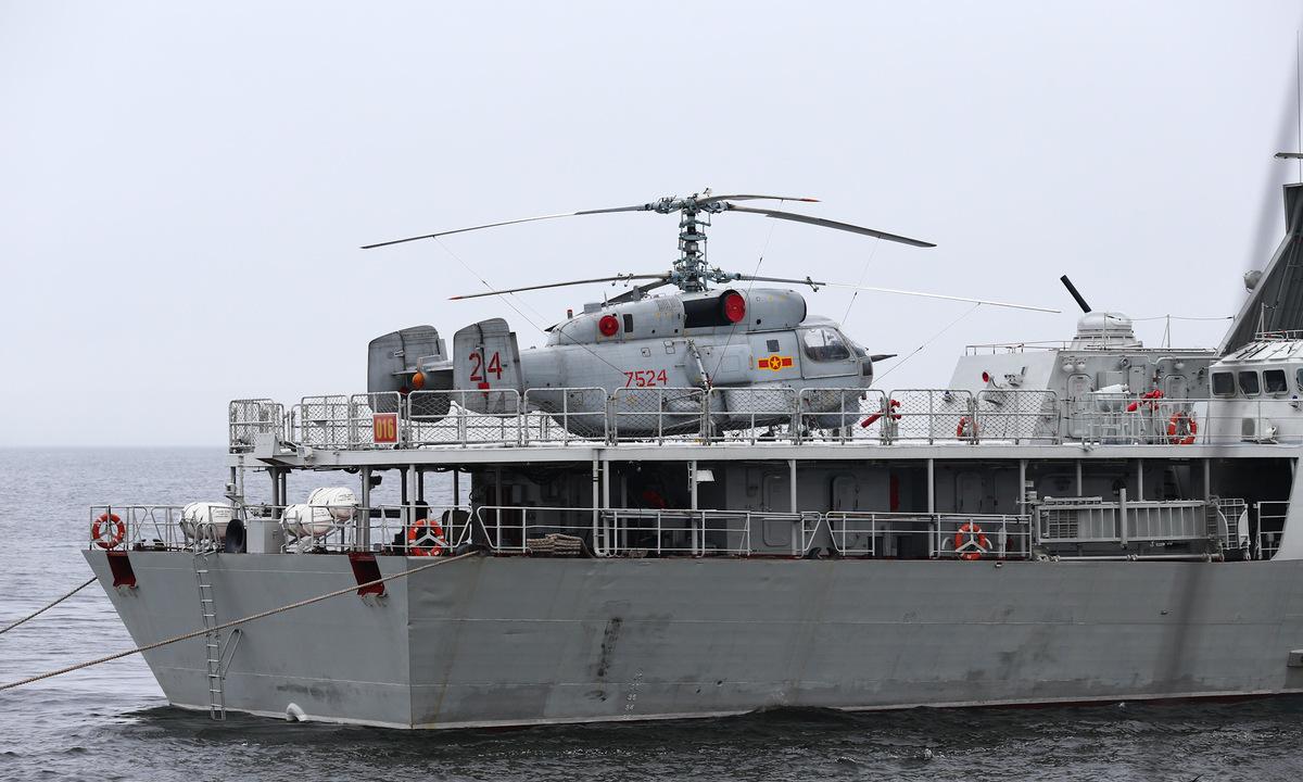 Tàu hộ vệ Việt Nam trong lần đầu duyệt binh hải quân tại Nga