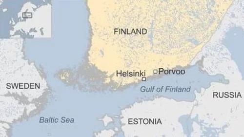 Vị trí vịnh Phần Lan. Đồ họa: BBC.