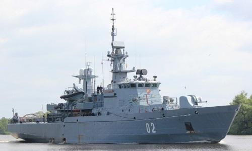 Tàu quét mìn Hameenmaa củaPhần Lan.