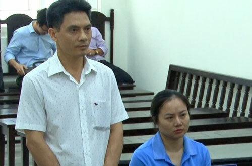 Bị cáo Thuật và Hạnh tại phiên tòa sơ thẩm ngày 29/7.