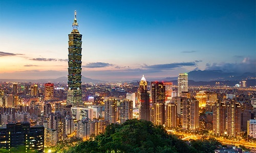 Tòa tháo Taipei 101 nổi tiếng ở Đài Bắc (Đài Loan). Ảnh: Hello Magazine