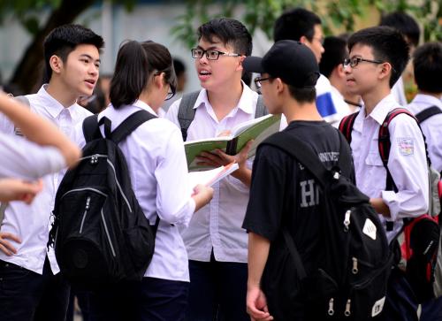 Học sinh tham dự kỳ thi THPT quốc gia năm 2019.