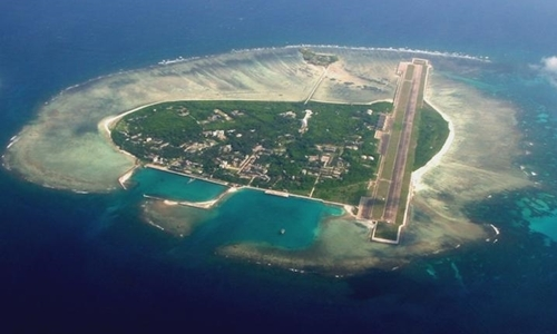 Trung Quốc xây dựng trái phép đường băng và nhiều công trình khác trên đảo Phú Lâm thuộc quần đảo Hoàng Sa của Việt Nam. Ảnh:Hinews.