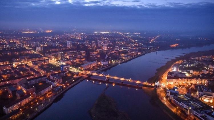 Thành phố Frankfurt bên dòng sông Oder. Ảnh:deutschlandfunk