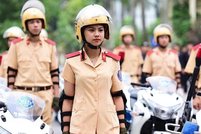 Học viên Học viện Cảnh sát nhân dân trong sự kiện kỷ niệm thành lập trường năm 2017. Ảnh: Giang Huy