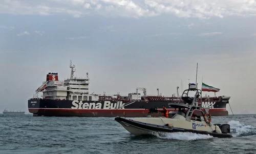 Xuồng vũ trang IRGC áp tải tàu dầu Stena Impero hôm 20/7. Ảnh: ISNA.