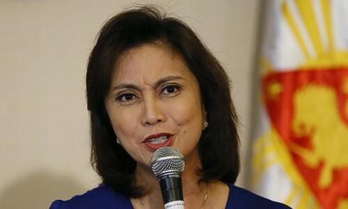 Phó Tổng thống Philippines Leni Robredo. Ảnh: AP.