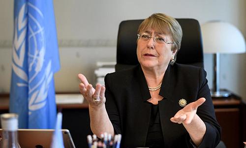 Cao ủy Nhân quyền Liên Hợp QuốcMichelle Bachelet. Ảnh: Reuters.