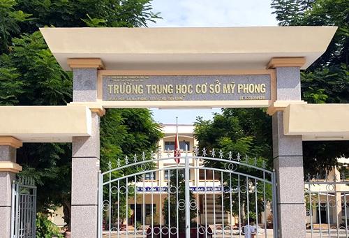 Trường THCS Mỹ Phong, nơi xảy ra sự việc. Ảnh: Facbook nhà trường.