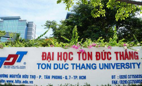 Cơ sở chính Đại học Tôn Đức Thắng tại quận 7, TP HCM. Ảnh: Mạnh Tùng.