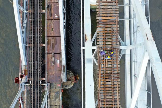 Cầu sắt Bình Lợi bắc qua sông Sài Gòn thông xe đầu tháng 9