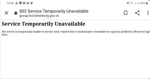 Hàng loạt website sở ngành TP HCM không thể truy cập - ảnh 1