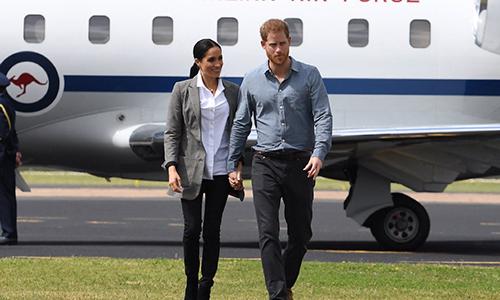 Vợ chồng Harry và Meghan thăm Australia năm 2018. Ảnh: Hello magazine
