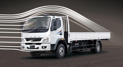 Thiết kế khí động học trên dòng xe tải Fuso Canter mới.