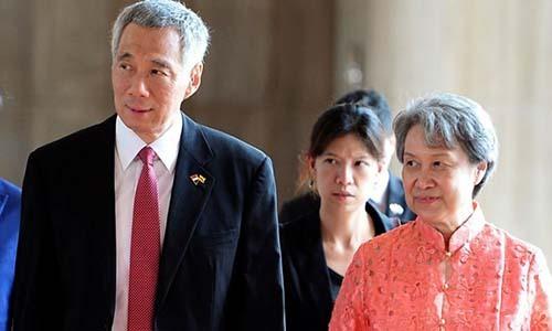 Vợ chồng Thủ tướng Singapore Lý Hiển Long và Hà Tinh (phải). Ảnh: Reuters.