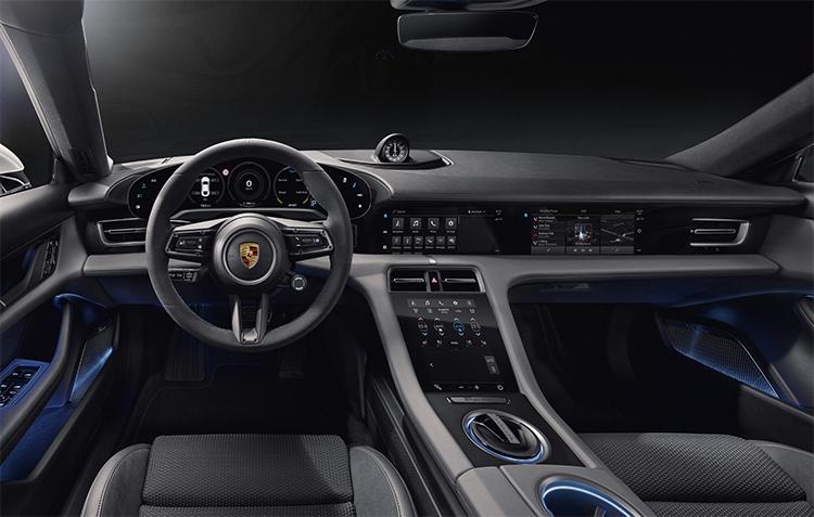 Chi tiết nội thất của Porsche Taycan 2020.