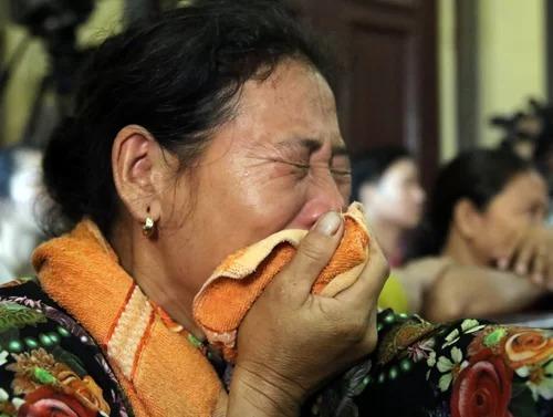 Người nhà ông Chinh tại phiên xét xử Nguyễn Hữu Tình tháng 7/2018. Ảnh:Kỳ Hoa.