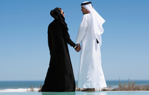 Một đôi vợ chồng UAE. Ảnh: Whats on Dubai