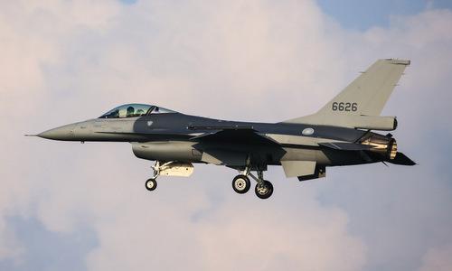 Tiêm kích F-16V đầu tiên được Mỹ nâng cấp cho Đài Loan năm 2018. Ảnh: AFP.