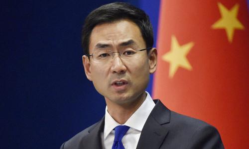 Người phát ngôn Bộ Ngoại giao Trung Quốc Cảnh Sảng. Ảnh: Reuters.