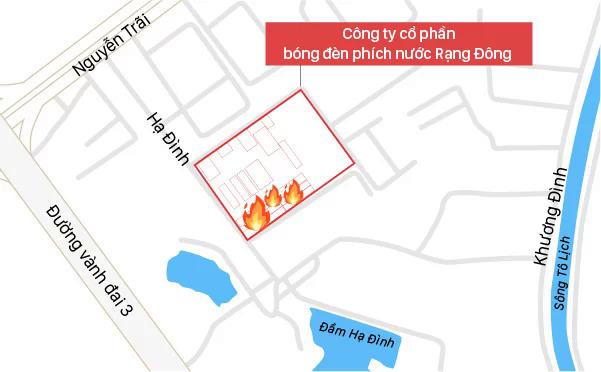 'Khong an thuc pham trong ban kinh 1 km tu dam chay kho Rang Dong'