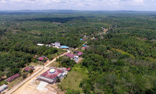 Khu vực Sepaku tại tỉnh Đông Kalimantan, nơi được chọn để đặt thủ đô mới của Indonesia. Ảnh: AFP.