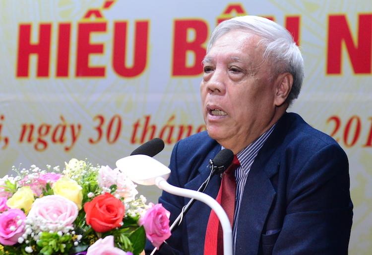 PGS Nguyễn Trọng Phúc, nguyên Viện trưởng Lịch sử Đảng kể về những ngày để tang Chủ tịch Hồ Chí Minhsáng 30/8. Ảnh: HT