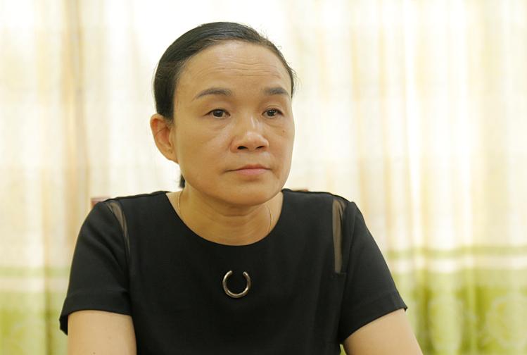 Cô Đỗ Thị Chăm tại Phòng Giáo dục và Đào tạo huyện Mê Linh, Hà Nội sáng 30/8. Ảnh:Thanh Hằng