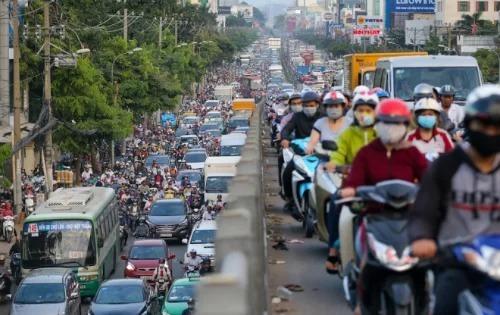 Đường mới nối từ Trần Quốc Hoàn đến Cộng Hòa được kỳ vọng sẽ kéo giảm kẹt xe quanh sân bay Tân Sơn Nhất. Ảnh: Thành Nguyễn