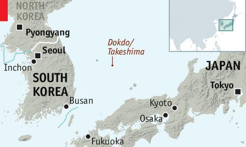 Vị trí quần đảo Dokdo/Takesshima. Đồ họa: Economist.