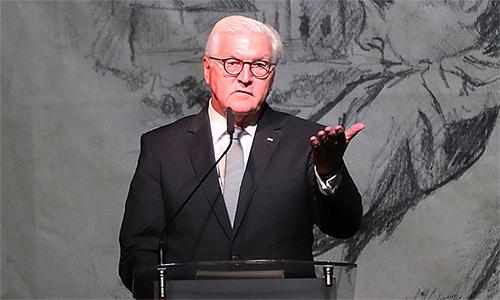 Tổng thống Đức Frank-Walter Steinmeier tại lễ kỷ niệm 80 năm ngày Đức tấn công Ba Lan. Ảnh: AP.