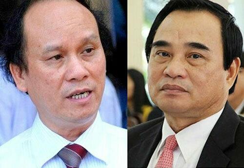 Hai cựu chủ tịch UBND TP Đà Nẵng Trần Văn Minh và Văn Hữu Chiến (từ trái qua). Ảnh: Baodanang.