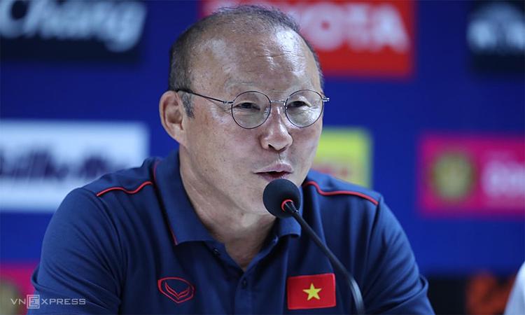 HLV Park cho rằng sức ép nằm ở phía Thái Lan trong trận đấu ngày mai. Ảnh: Đức Đồng.