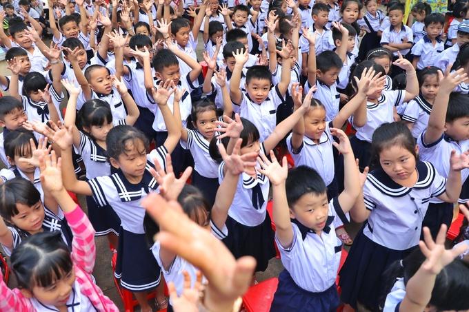 Ngày khai giảng ở trường đông học sinh nhất TP HCM