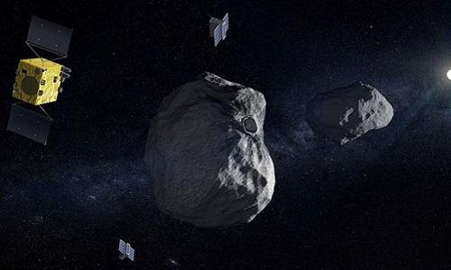 Didymos nằm trong nhóm tiểu hành tinh có khả năng gây nguy hiểm cho Trái Đất. Ảnh: Sun.