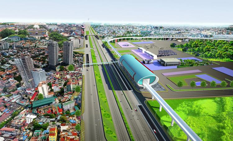 Phối ảnh cầu vượt trước bến xe Miền Đông mới. Ảnh: Sở GTVT TP HCM