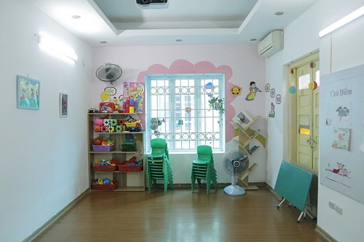 Phòng học tầng ba của lớp mẫu giáo Misha bỏ trống vì không có học sinh. Ảnh: Thanh Hằng